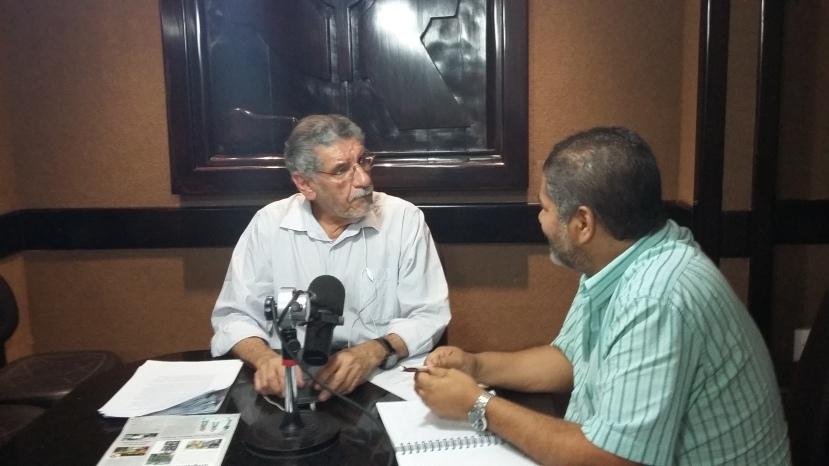 Entrevistei Herzém Gusmão na sexta, 11/09, na Rádio Clube.