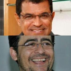 Vane reconhece a pré-candidatura de Davidson Magalhães (no alto). Roberto José espera que a dele também. Mas só um deles pode ser candidato, diz o prefeito.