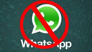 WhatsApp proibido