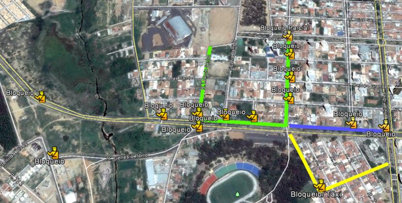 Mapa Bloqueios Lomantão