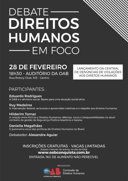 Cartaz OAB Direitos Humanos