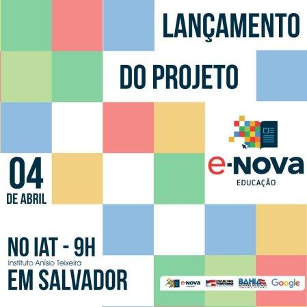 Cartaz E-Nova Educação
